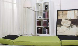 Die Top designte Gästematratze faltbar, Schlafsessel Jugendsessel Gästebett Kunstleder verschiedene Farben grün klein