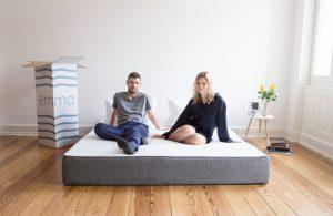 Doppel Gästematratze - Emma Matratze aus Memory-Viskoschaum 90x200cm extrem atmungsaktiv - als Bett ohne Lattenrost verwendbar