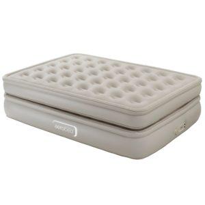Luftmatratze Gästebett - Aerobed Luxury Collection Luftbett beflockt mit eingebauter Pumpe und Fernbedienung, Antimikrobiell